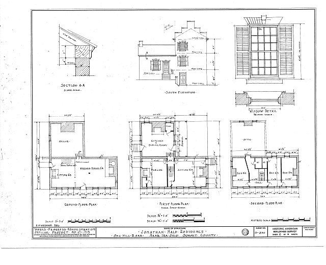 HABS OHIO,77-IRA,1- (sheet 2 of 6) - Jonathan Hale House, Oak Hill Road, Ira, Summit County, OH