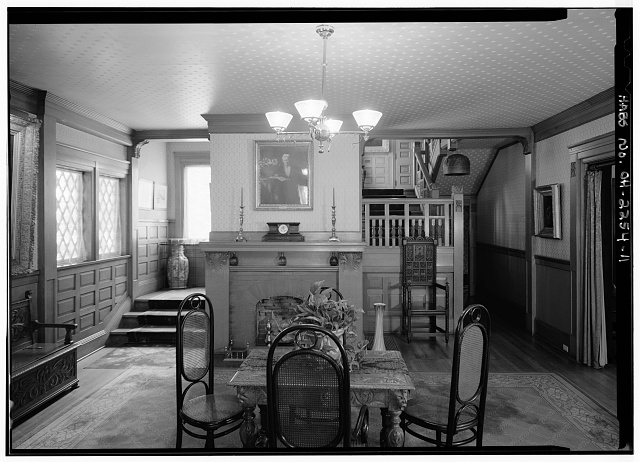 11.  STAIR HALL AND FOYER, FIRST FLOOR - Lawnfield, 8095 Mentor Avenue (U.S. Route 20), Mentor, Lake County, OH