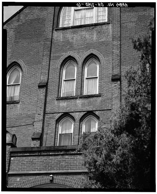 6.  CONVENT, NORTH SIDE, UPPER FLOOR WINDOW DETAIL - St. Aloysius Academy, Tile Plant Road at Thorn Road, New Lexington, Perry County, OH