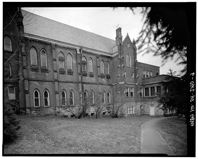 9.  CHAPEL, NORTH SIDE - St. Aloysius Academy, Tile Plant Road at Thorn Road, New Lexington, Perry County, OH