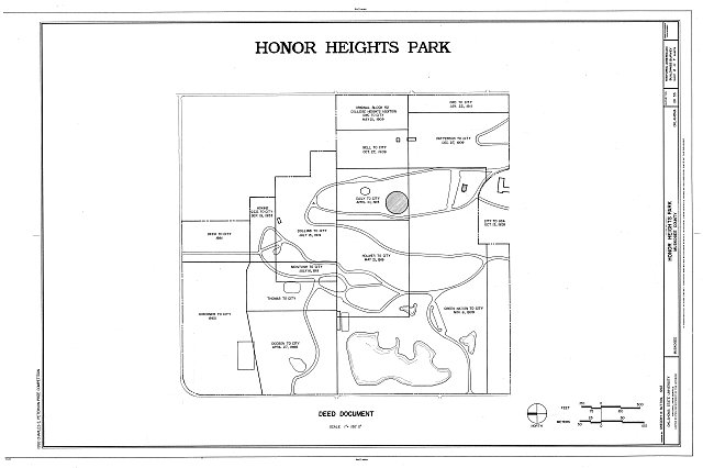 HABS OKLA,51-MUSK,2- (sheet 2 of 7) - Honor Heights Park, Agency Hill, Muskogee, Muskogee County, OK