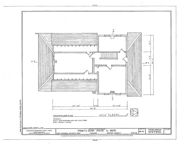 HABS ORE,2-HOSK,2- (sheet 4 of 12) - Frantz-Dunn House, Hoskins, Benton County, OR