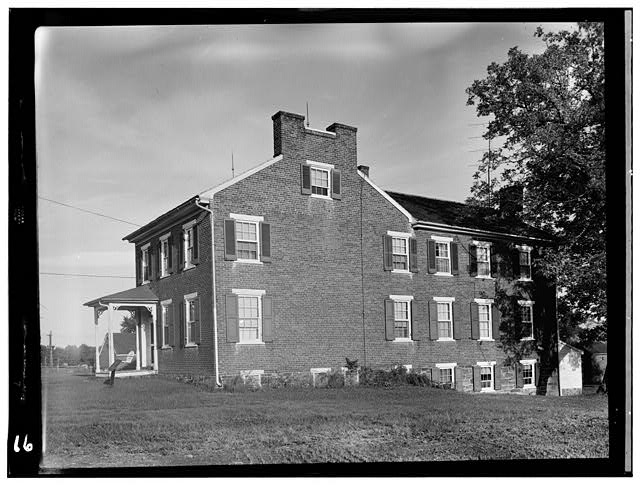 1.  Historic American Buildings Survey, Frederick Tilberg, Photographer July, 1956 FRONT AND SIDE ELEVATION. - Culp Farm House, Gettysburg, Adams County, PA