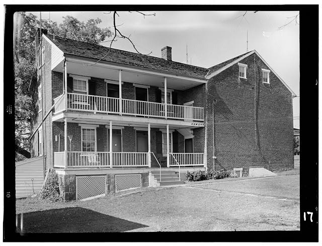 2.  Historic American Buildings Survey, Frederick Tilberg, Photographer July, 1956 ELEVATION OF BACK ELL. - Culp Farm House, Gettysburg, Adams County, PA