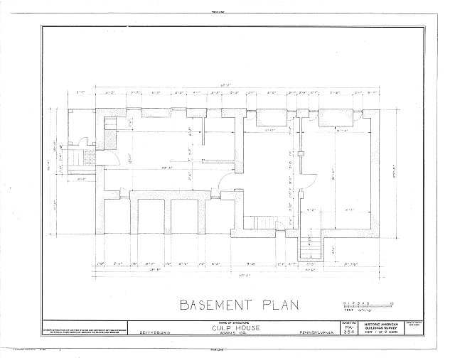 HABS PA,1-GET,3- (sheet 1 of 2) - Culp Farm House, Gettysburg, Adams County, PA