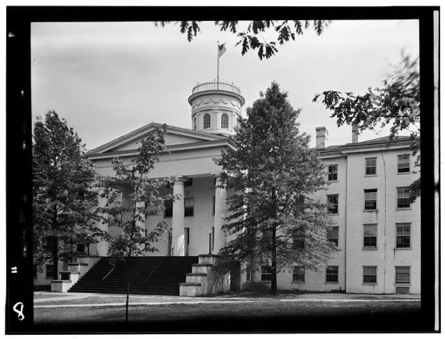 1.  Historic American Buildings Survey, Frederick Tilberg, Photographer August, 1950 PART OF MAIN ELEVATION. - Pennsylvania College, Pennsylvania Hall, Gettysburg, Adams County, PA