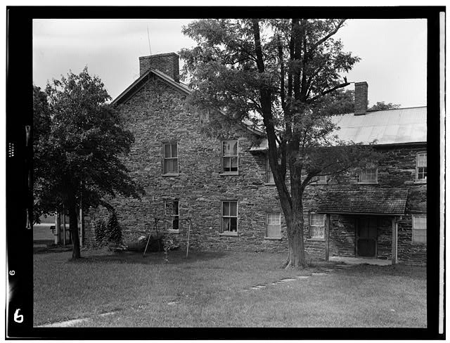 1.  Historic American Buildings Survey, Frederick Tilberg, Photographer July, 1950 SIDE ELEVATION. - Black Horse Tavern, Fairfield Road (Cumberland Township), Gettysburg, Adams County, PA