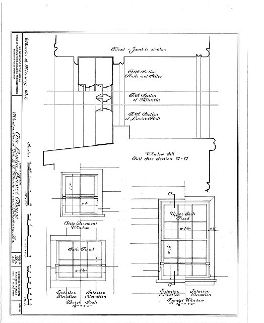 HABS PA,1-GET.V,1- (sheet 8 of 10) - Lydia Leister House, Taneytown Road & Meade Avenue, Gettysburg, Adams County, PA