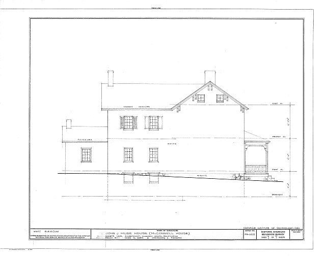 HABS PA,2-MCKSPT,1- (sheet 7 of 7) - John J. Muse House, Muse's Lane, McKeesport, Allegheny County, PA