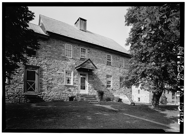 2.  Historic American Buildings Survey, Cervin Robinson, Photographer August, 1958 SOUTH (FRONT) ELEVATION. - Kaufman House, State Route 662 vicinity (Oley Township), Oley, Berks County, PA