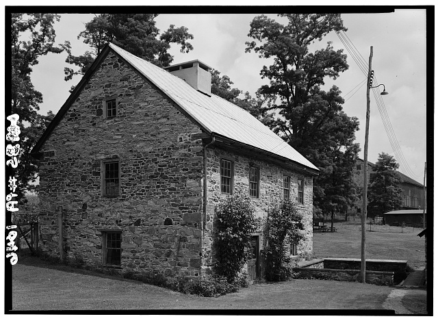 1.  Historic American Buildings Survey, Cervin Robinson, Photographer August, 1958 SOUTH AND WEST ELEVATIONS. - Kaufman Small House, State Route 662 vicinity (Oley Township), Oley, Berks County, PA