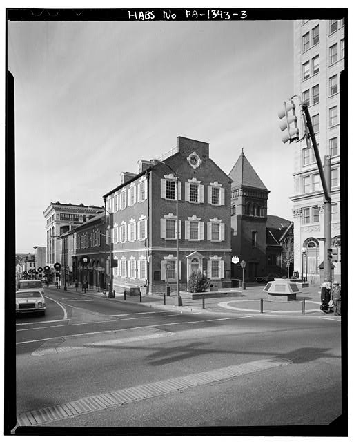 3.  Dan Eisenhart, photographer, summer 1981, south and east facades from southeast - Old City Hall, Penn Square, Lancaster, Lancaster County, PA