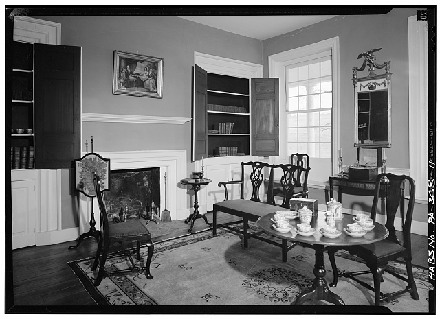 11.  PARLOR, FIRST FLOOR - Rockford, Rock Ford Road (West Lampeter Township), Lancaster, Lancaster County, PA