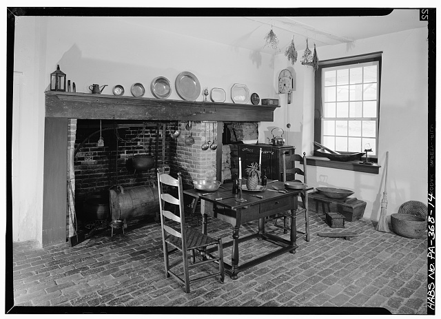 14.  KITCHEN, BASEMENT STORY - Rockford, Rock Ford Road (West Lampeter Township), Lancaster, Lancaster County, PA