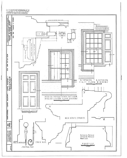 HABS PA,36-LANC.V,1- (sheet 13 of 13) - Rockford, Rock Ford Road (West Lampeter Township), Lancaster, Lancaster County, PA