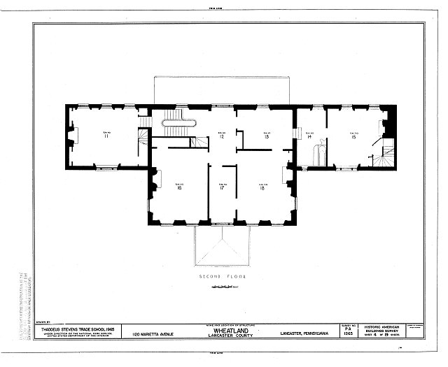 HABS PA,36-LANC.V,7- (sheet 4 of 19) - Wheatland, 1120 Marietta Avenue, Lancaster, Lancaster County, PA