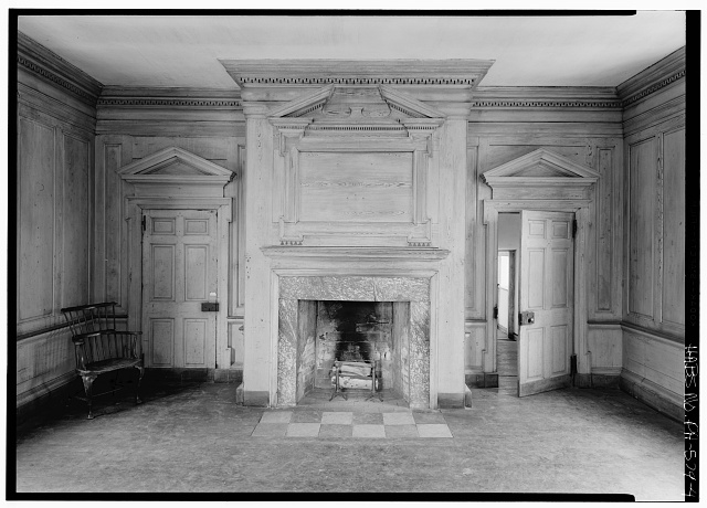 4.  Interior, first floor, northeast room from northeast - Graeme Park, 859 County Line Road, Horsham, Montgomery County, PA
