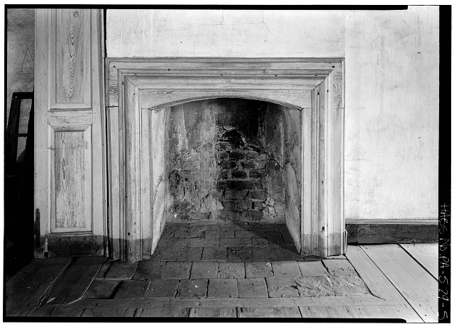 5.  Interior, third floor, northeast room, detail of fireplace - Graeme Park, 859 County Line Road, Horsham, Montgomery County, PA