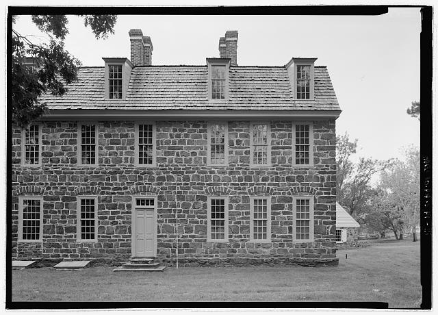 VIEW OF NORTHWEST ELEVATION, WEST END, WITH SCALE  - Graeme Park, 859 County Line Road, Horsham, Montgomery County, PA