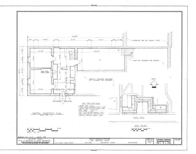 HABS PA,48-BETH,3-A- (sheet 2 of 10) - Gemein Haus, 62-66 West Church Street, Bethlehem, Northampton County, PA