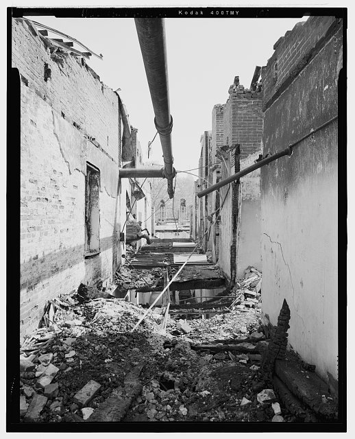 View looking north along the main corridor on the third floor of the central pavilion. The opening on the near left looks down into the south stairwell of the central pavilion. - U. S. Naval Asylum, Biddle Hall, Gray's Ferry Avenue, Philadelphia, Philadelphia County, PA