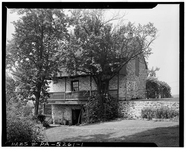 1.  GENERAL VIEW. - Stone Farmhouse, Oley Township, Oley, Berks County, PA