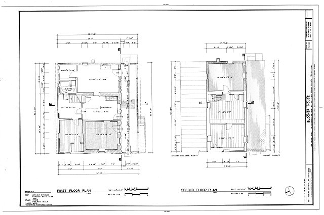 HABS PA,1-GET.V,10- (sheet 2 of 3) - Blocher House, Tablerock Road, off Route 34, Gettysburg, Adams County, PA