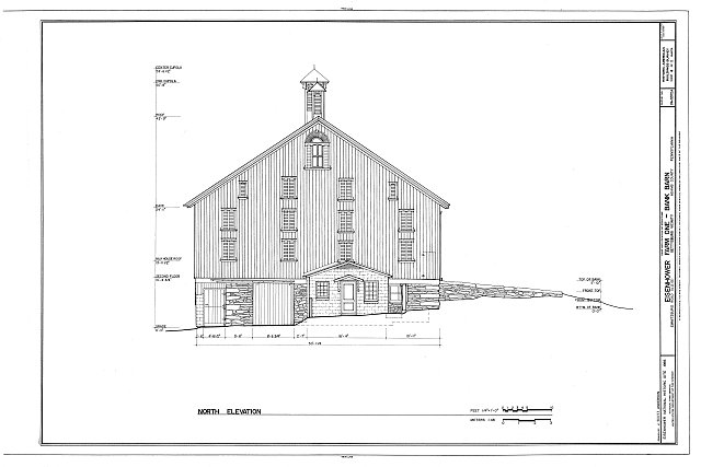 HABS PA,1-GET.V,12-A- (sheet 4 of 11) - Eisenhower Farm One, Bank Barn, Emmitsburg Road (U.S. 15), Eisenhower National Historic Site, Gettysburg, Adams County, PA