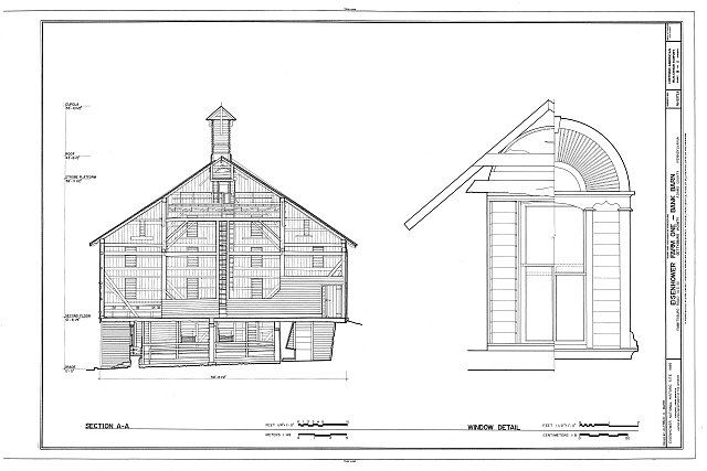 HABS PA,1-GET.V,12-A- (sheet 9 of 11) - Eisenhower Farm One, Bank Barn, Emmitsburg Road (U.S. 15), Eisenhower National Historic Site, Gettysburg, Adams County, PA
