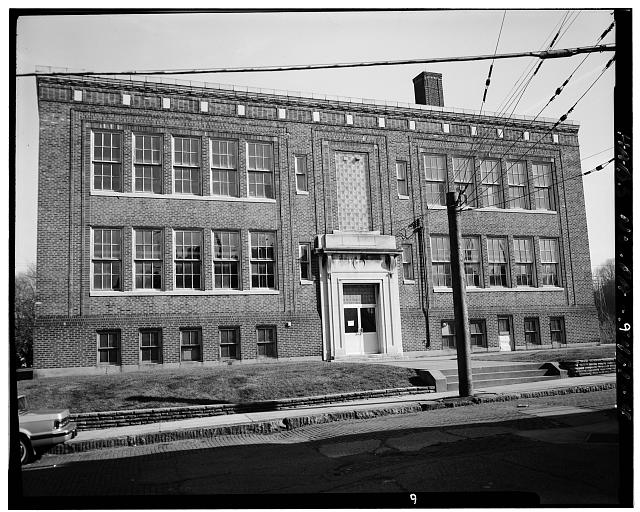 4.  View East, West Side on Guthrie Street - St. Mary's Roman Catholic School, Northwest corner of Church Avenue & Guthrie Street, McKees Rocks, Allegheny County, PA