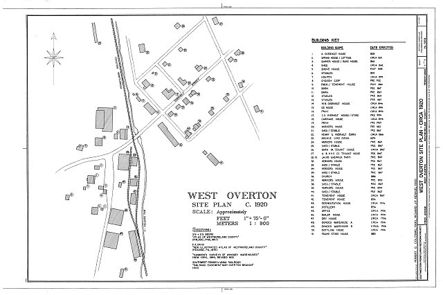 HABS PA,65OVTW,11- (sheet 2 of 3) - West Overton, West Overton, Westmoreland County, PA