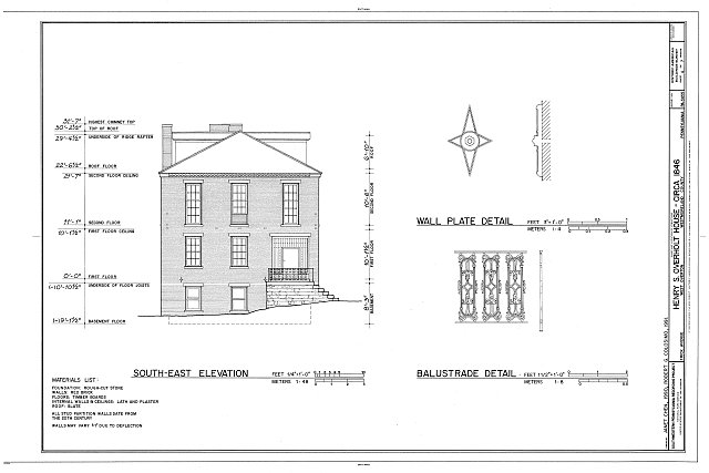 HABS PA,65-OVTW,10- (sheet 4 of 7) - Henry S. Overton House, 1526 Frick Avenue, West Overton, Westmoreland County, PA
