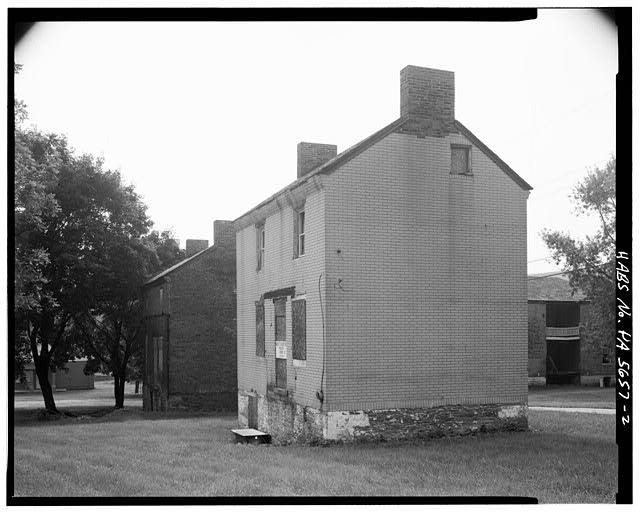 2.  SOUTHEAST REAR AND NORTHEAST SIDE - Overholt Company Workers' House B, Frick Avenue, West Overton, Westmoreland County, PA