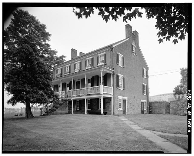 6.  EAST AND NORTH SIDES - Abraham Overholt House, West Overton, Westmoreland County, PA