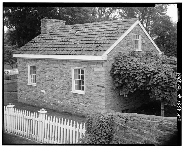 2.  NORTH AND WEST SIDES - Abraham Overholt House, Springhouse, Frick Avenue, West Overton, Westmoreland County, PA