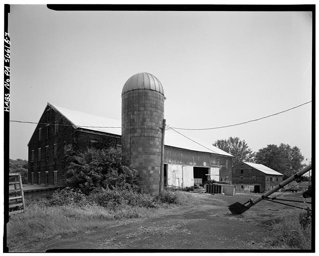 4.  NORTH AND WEST SIDES - Abraham Overholt Farm, Large Barn, Frick Avenue, West Overton, Westmoreland County, PA