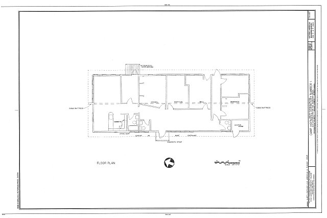 HABS PA,9-PIPERV.V,1A- (sheet 2 of 6) - Camp Hofnung, Dormitory No. 1, Old Easton Road at Tohickon Creek, Pipersville, Bucks County, PA