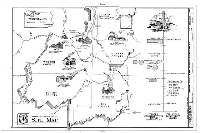 HAER PA,62-WAR,3- (sheet 2 of 3) - Allegheny National Forest Oil Heritage, Warren, Warren County, PA