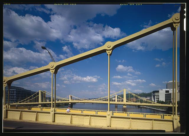 Three Sisters Bridges, Sixth Street Bridge, Spanning Allegheny River at Sixth Street, Pittsburgh, Allegheny, PA