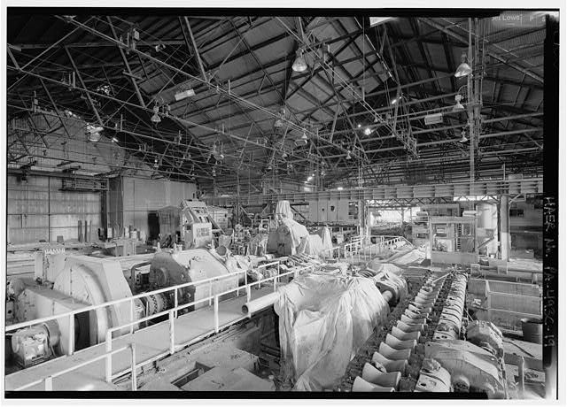 One of few intact areas of rolling mill, showing equipment left over from pipe and tube making in the 1970's and 80's. - Phoenix Iron Company, Rolling Mill, North of French Creek, west of Fairview Avenue, Phoenixville, Chester County, PA