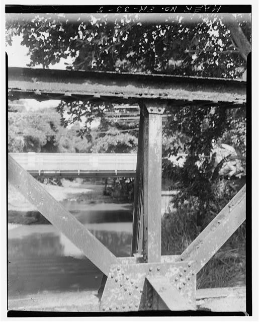 5.  Detail: post, diagonals and connection - Batey Columbia Railroad Bridge, Spanning Maunabo River, Maunabo, Maunabo Municipio, PR