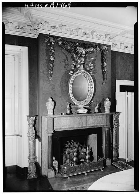 5.  Historic American Buildings Survey, Laurence E. Tilley, Photographer April, 1958 FIREPLACE IN DINING ROOM. - Candace Allen House, 12 Benevolent Street, Providence, Providence County, RI