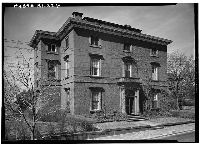 1.  Historic American Buildings Survey, Laurence E. Tilley, Photographer April, 1958 EAST (FRONT) AND SOUTH ELEVATIONS. - William Binney House, 72 Prospect Street, Providence, Providence County, RI