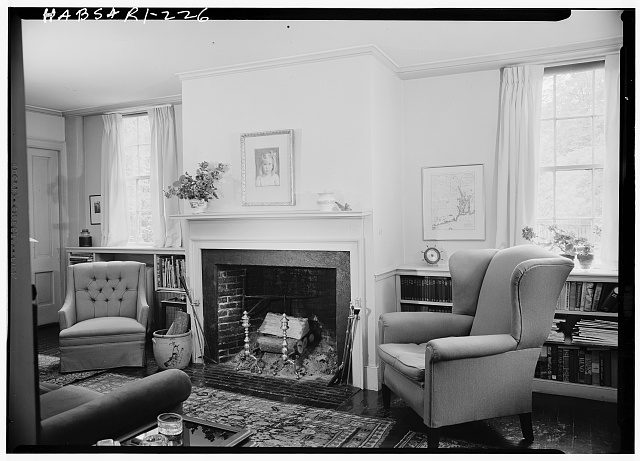 2.  Historic American Buildings Survey, Laurence E. Tilley, Photographer May, 1958 LIBRARY FIRPLACE IN NORTHEAST WING. - James Burrough House, 160 Power Street, Providence, Providence County, RI