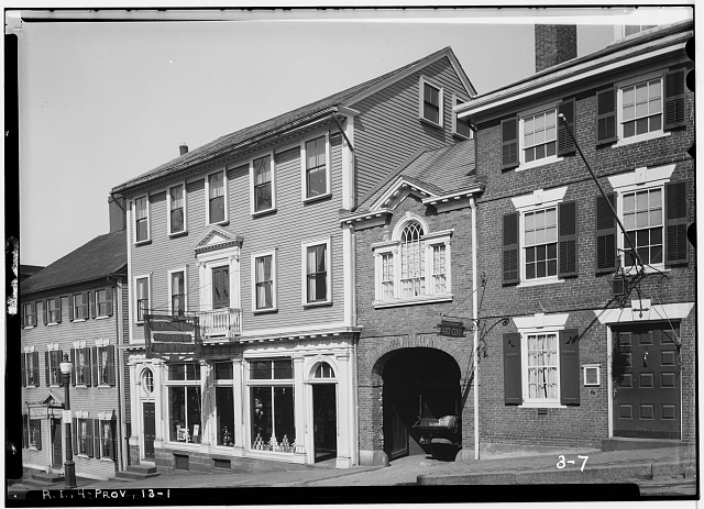 1.  Historic American Buildings Survey, G.H. Paine, Photographer March 21, 1934 SOUTH ELEVATION (FRONT). - Seril Dodge House, 10 Thomas Street, Providence, Providence County, RI