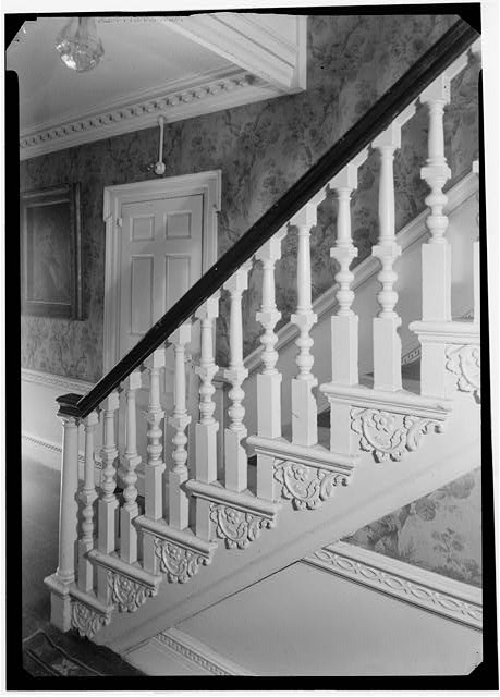 4.  Historic American Buildings Survey, Arthur W. LeBoeuf, Photographer, 1937 FRONT STAIRS TO SECOND STORY, LOOKING TOWARD THE FRONT. - Seril Dodge House, 10 Thomas Street, Providence, Providence County, RI