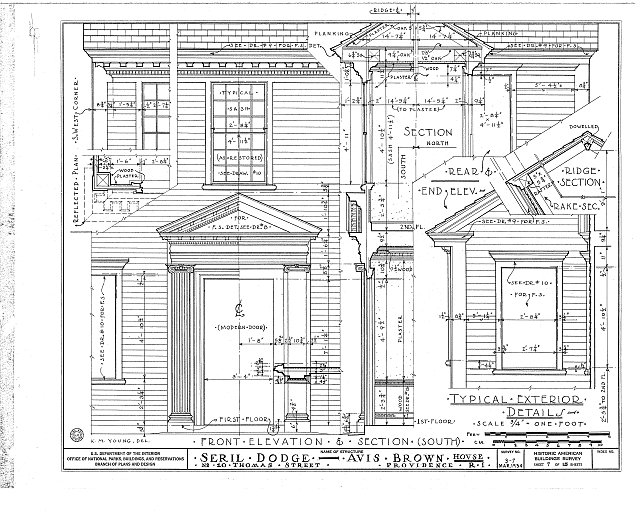 HABS RI,4-PROV,13- (sheet 7 of 15) - Seril Dodge House, 10 Thomas Street, Providence, Providence County, RI
