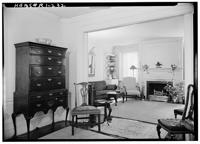 3.  Historic American Buildings Survey, Laurence E. Tilley, Photographer May, 1958 DOUBLE PARLOR. - Cyrus Ellis House, 31 John Street, Providence, Providence County, RI