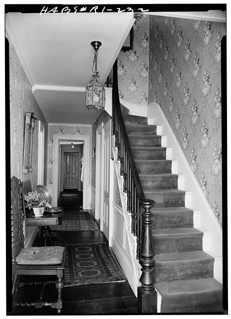 6.  Historic American Buildings Survey, Laurence E. Tilley, Photographer May, 1958 CENTRAL HALL. - Cyrus Ellis House, 31 John Street, Providence, Providence County, RI