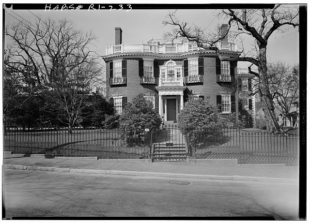 1.  Historic American Buildings Survey, Laurence E. Tilley, Photographer April, 1958 WEST (FRONT) ELEVATION. - Thomas L. Halsey House, 140 Prospect Street, Providence, Providence County, RI